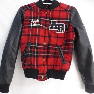 APPLE BOTTOMS AB Snap button front plaid jacket